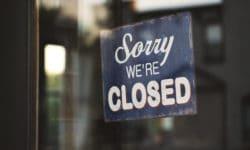 Bar fermé