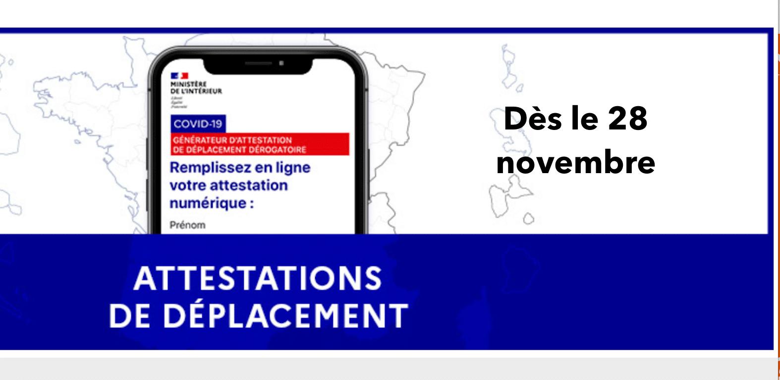 Nouvelle Attestation De Deplacement En France 28 Novembre Les Frontaliers
