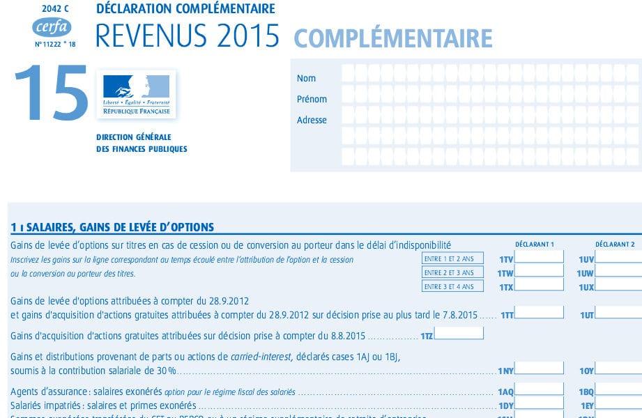 Declaration Fiscale Francaise Changement Important Les